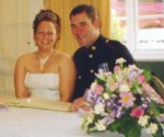 penpal marriage - jo and nick married in england